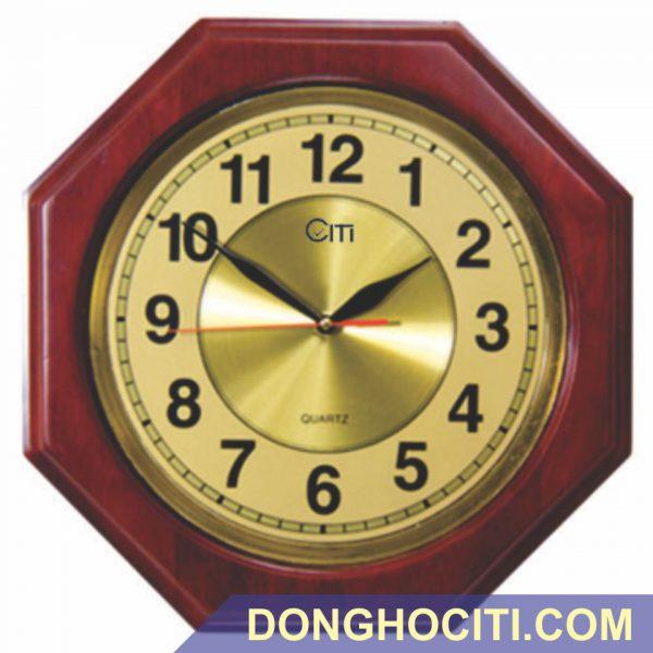 Đồng hồ treo tường gỗ lục giác
