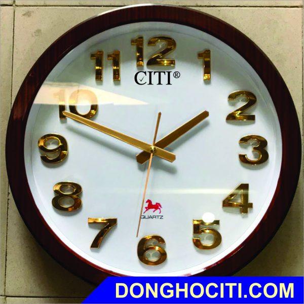 Đồng hồ treo tường tròn 38cm số nổi