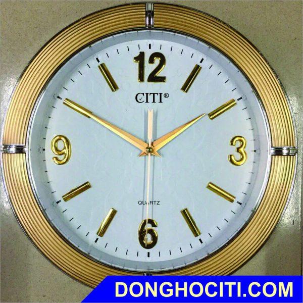 Đồng hồ tròn vành xi số nổi